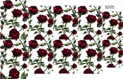 Слайдер дизайн куст красных роз S375