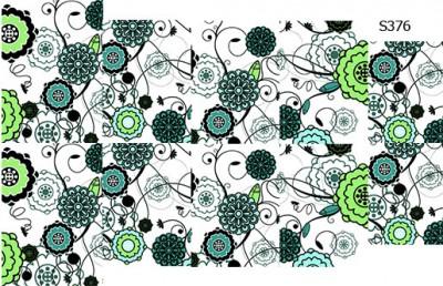 Слайдер дизайн бирюзовая абстракция S376