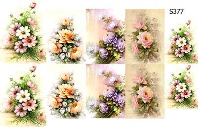 Слайдер дизайн винтажные цветы декупаж S377