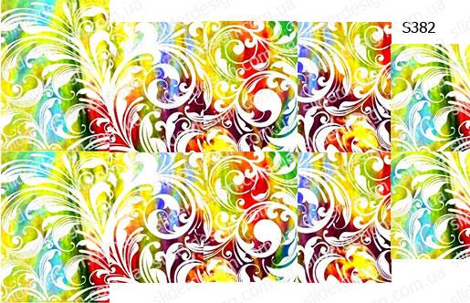Слайдер дизайн цветочный узор белым S382