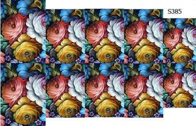 Слайдер дизайн роспись цветы S385