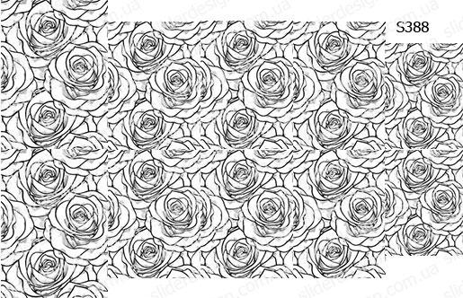 Слайдер дизайн узор из больших роз S388