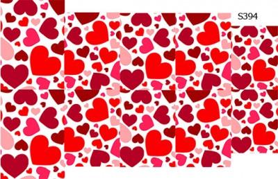 Слайдер дизайн сердечки красные, бордовые S394