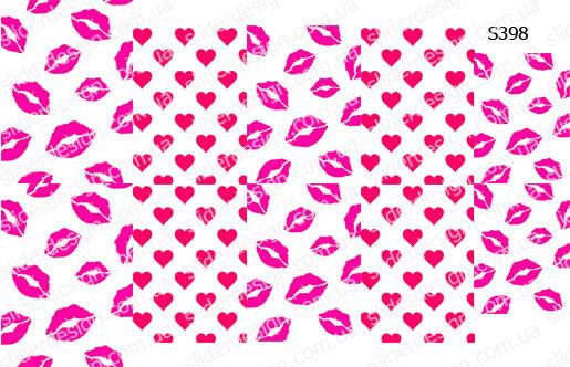 Слайдер дизайн поцелуи губы и сердце S398