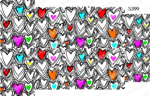 Слайдер дизайн эскиз сердечки S399