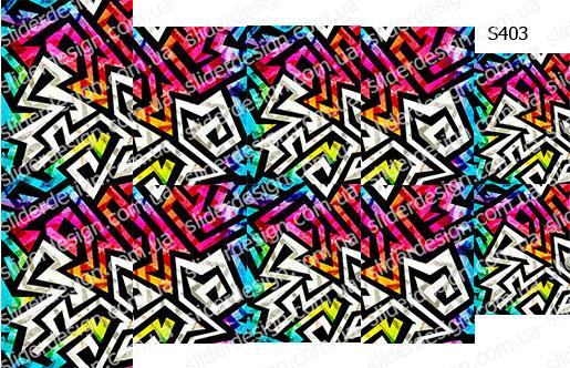 Слайдер дизайн разноцветная геометрия S403