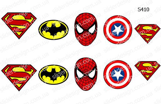 Слайдер дизайн супермен, бетмен, комиксы S410