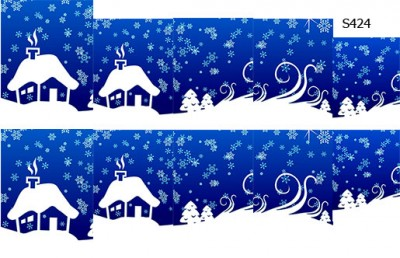 Слайдер дизайн зимний домик S424