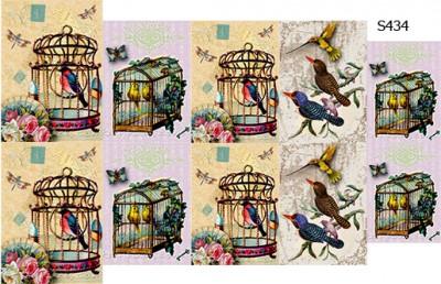 Слайдер дизайн винтажные птицы S434