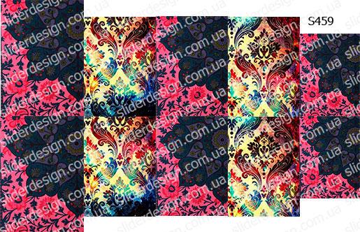 Слайдер дизайн цветы дамаск S459