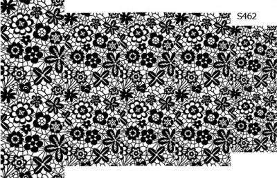 Слайдер дизайн кружево цветы средние S462