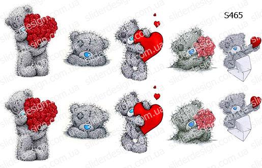 Слайдер дизайн мишка Тедди любовь S465