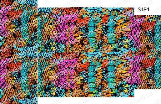 Слайдер дизайн цветная змея S484