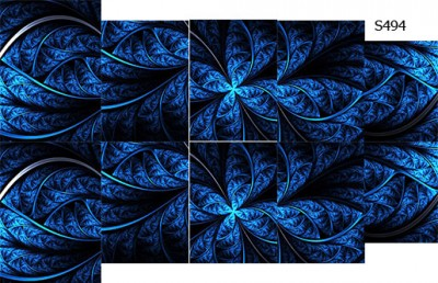 Слайдер дизайн синяя абстракция S494