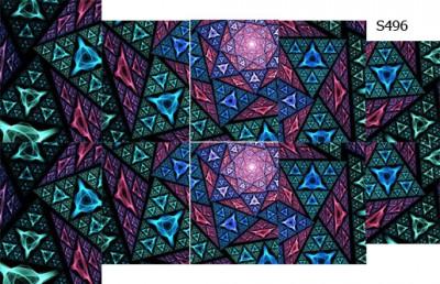 Слайдер дизайн треугольники S496
