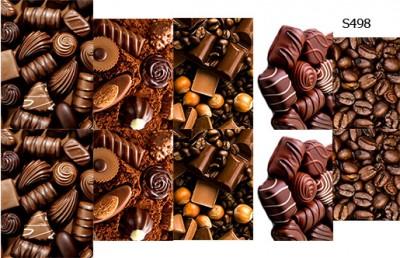 Слайдер дизайн шоколад и кофе S498