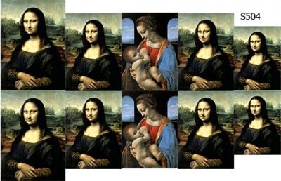 Слайдер дизайн Леонардо да Винчи картины S504