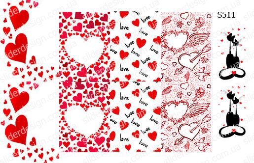Слайдер дизайн сердечки микс S511