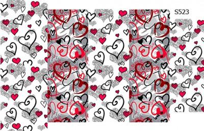 Слайдер дизайн сердечки микс S523