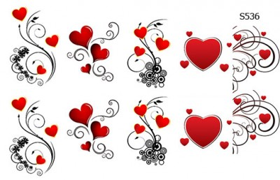 Слайдер дизайн сердечки вензеля S536