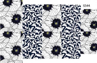 Слайдер дизайн крупные цветы вензеля S544