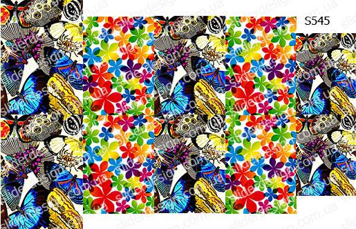 Слайдер дизайн бабочки с цветами S545