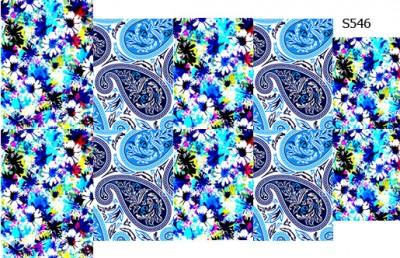 Слайдер дизайн пейсли с цветами S546