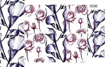 Слайдер дизайн скетч цветы S550