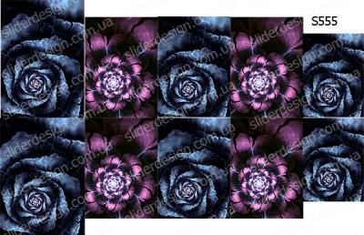 Слайдер дизайн цветок фрактал S555