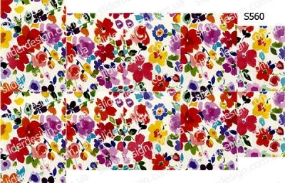 Слайдер дизайн яркие цветочки S560