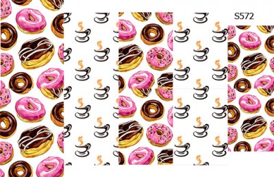 Слайдер дизайн пончики с кофе S572