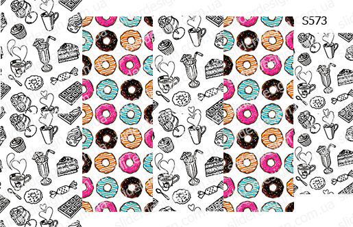 Слайдер дизайн кофе пончики S573