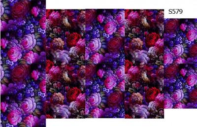 Слайдер дизайн роспись цветы S579
