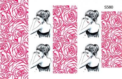 Слайдер дизайн розы+девушка S580