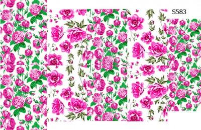 Слайдер дизайн розовые цветочки S583