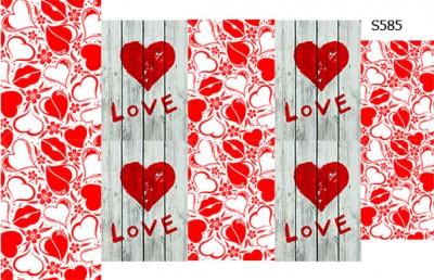 Слайдер дизайн надпись Love S585