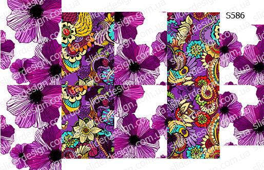 Слайдер дизайн фиолетовые цветы S586