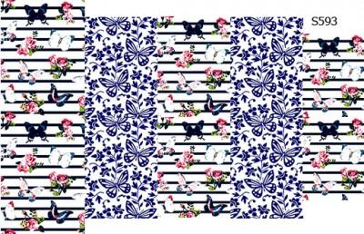 Слайдер дизайн полоска с бабочками S593