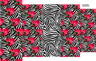 Слайдер дизайн зебра с цветами S595