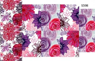 Слайдер дизайн малиновые цветы сет S598