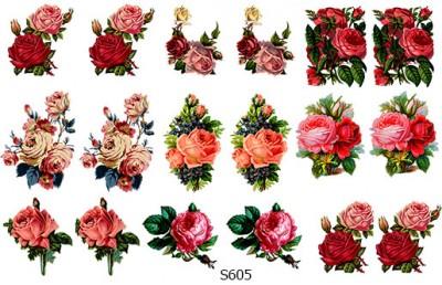 Слайдер дизайн набор цветов декупаж S605