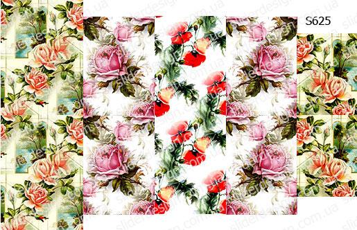Слайдер дизайн фоновые цветочки S625