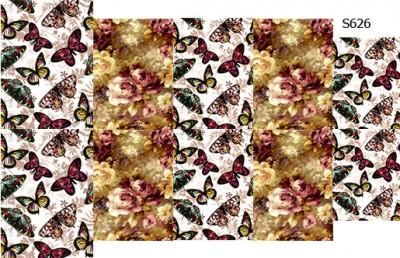 Слайдер дизайн винтажные бабочки S626