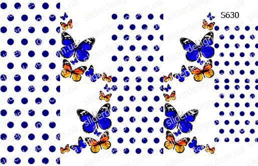 Слайдер дизайн горошек + бабочки S630