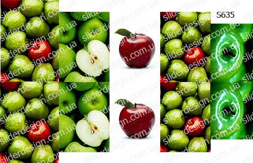 Слайдер дизайн яблоки S635