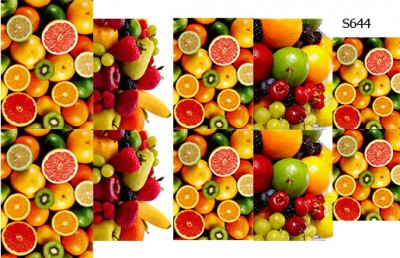 Слайдер дизайн фрукты S644