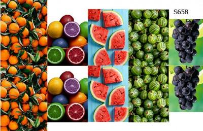 Слайдер дизайн фрукты микс S658