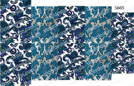 Слайдер дизайн дамаск цветы S665