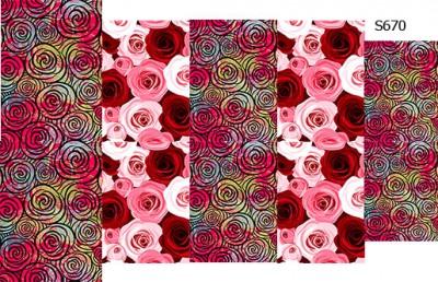 Слайдер дизайн розы букет S670
