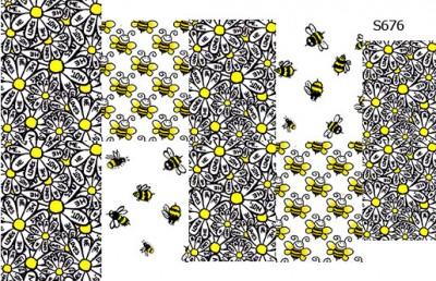 Слайдер дизайн ромашки и пчелы S676